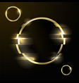 glitched abstract background - golden ring vector image vector image