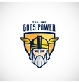 Gods Power Sport Team or League Logo vector image