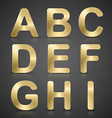 Gold Alphabet Set vector image vector image