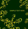 gold flowers poster vector image