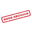 Good Decision Text Rubber Stamp vector image vector image