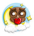 good night owl vector image