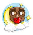 good night owl vector image vector image