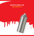 graffiti spray paint can with splash place vector image vector image