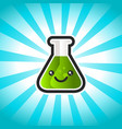 green potion cartoon vector image