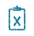 Grunge rejected document icon vector image vector image