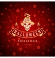 Halloween Background and Skull vector image