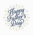 happy fathers day vintage lettering gold abstract vector image vector image