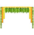 happy ugadi indian flower garland with mango vector image vector image