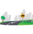 highway city skyline vector image vector image