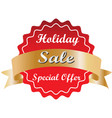 holiday special discount tag special offer price vector image vector image