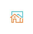 house construction icon logo vector image