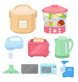 household appliances set icons in cartoon style vector image vector image