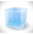 Ice cube with drops vector | Price: 1 Credit (USD $1)