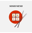 Japanese sushi and rolls vector image vector image