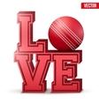 Love cricket inscription vector image vector image