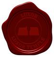 Luxor temple wax seal vector image vector image