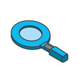 magnifying glass tool to search and explore vector image vector image