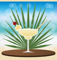 margarita banana cocktail vector image vector image