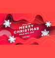 merry christmas sale discount banner with airy vector image vector image