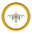 Military aircraft icon vector image vector image