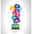 Modern Cloud Globals infographic concept vector image vector image