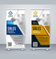 modern standee rollup banner for marketing vector image vector image