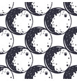 moon seamless pattern monochrome vintage hand vector image vector image