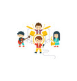 music kids band children playing different vector image vector image