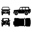 Off-road truck black icons