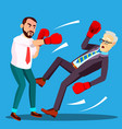 one businessman loser fell to floor second lucky vector image