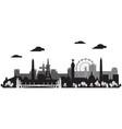 paris skyline silhouette 1 vector image vector image