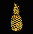 pineapple gold isolated on white background vector image vector image