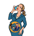 pregnant businesswoman businessman startup inside vector image vector image