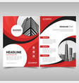red and black business flyer template vector image vector image