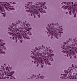 seamless pattern with dark violet chrysanthemums vector image