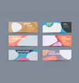 set banners template with abstract color vector image vector image