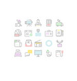 set flat line icons journalism vector image vector image