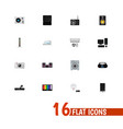 set of 16 editable home flat icons includes vector image vector image