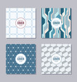set of 4 abstract frames and seamless patterns vector image