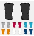 Set of colored sleeveless shirts templates for men vector image vector image