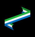 sierra leone flag ribbon isolated republic tape vector image vector image
