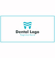simple logo design teeth or dental health vector image vector image