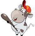 small cow Cartoon vector image