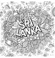 sri lanka hand drawn cartoon doodles vector image