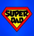super dad superhero emblem vector image