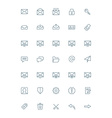 thin line mail icons set for web and mobile apps vector image