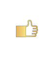 Thumbs up computer symbol vector image vector image