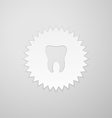 Tooth shape on the background of the circle with vector image vector image