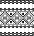 Ukrainian or Belarusian folk art black pattern vector image